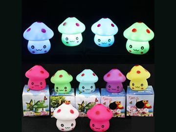 Buy Now: 120 PCS Mushroom Lamp Cartoon Luminaire LED Novelty Toys Colors