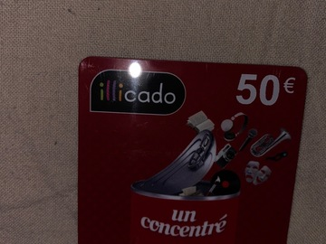 Vente: Carte cadeau Illicado (50€)