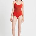 Selling: Sunburst swimsuit red L large NWT