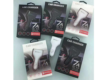 Buy Now: 100 PCS QC3.0 4 usb  fast car charger accessories 7A