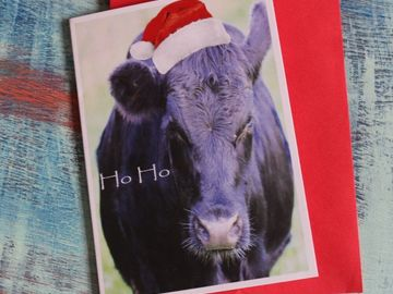 Products: Cow Christmas Card