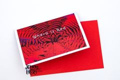 Products: Whero is Red Greeting Card