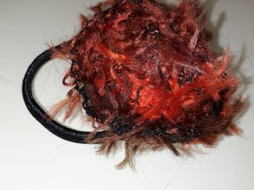Sale retail: chouchou crochet chapeau marron mix
