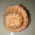 Vente au détail: chouchou chapeau abricot