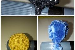 Vente au détail: lot de 3  bagues au crochet de différentes couleurs