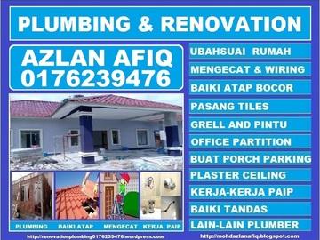 Services: plumbing dan renovation 0176239476 azlan afiq taman seri rampai