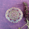 Vente au détail: Mandala sur pierre peinte a la maint pour boho décoration