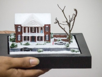 : Winter Snow Mansion