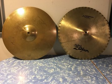 """Selling with online payment: Zildjian Hi Hats - K Mastersound Bottom, Quick Beat Top 14"""""""