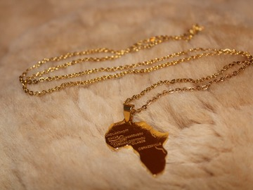 Selling with online payment: Gold Africa Necklace