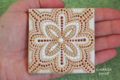 Vente au détail: Original mandala sur mini toile pour yoga studio decor