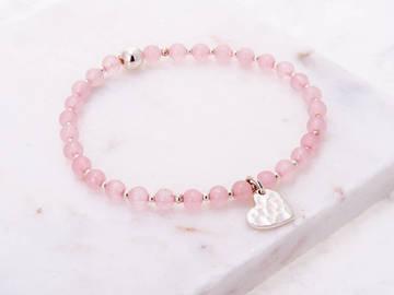 Selling: Healing Heart Rose Quartz  Angelic Reiki Bracelet