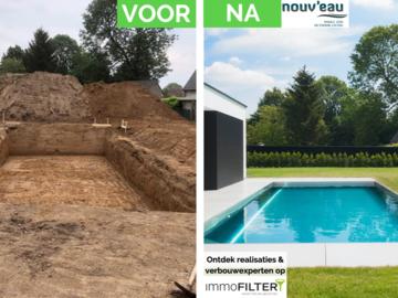 Click foto: [REALISATIE] Nouv'eau | Inox zwembad 10x4x1.5m