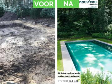 Click foto: [REALISATIE] Nouv'eau | Inox zwembad 12x3.5x1.5m