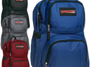 Buy Now: (24) Trailmaker Double Compartment Backpack w Padding - 4 Colors