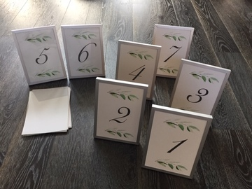Ilmoitus: Pöytänumerot + kehykset