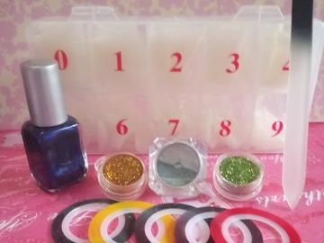 Venta: Pack para decorar uñas/ lima de cristal+REGALO
