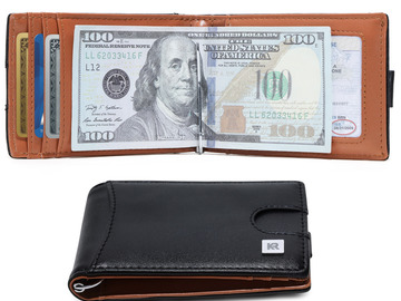 Buy Now: (980) Slim Wallets for Men with Money Clip RFID Blocking