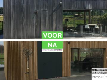 Click foto: [REALISATIES] Steegmans construct | Gevelrenovatie in hout