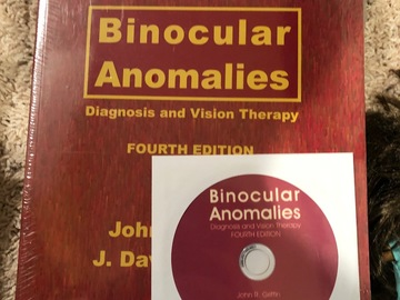 Selling with online payment: Binocular Anomalies 4th edition with CD