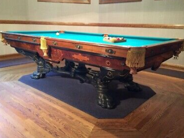 Make An Offer: Brunswick Mission 'B' model antique pool table