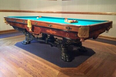 Make An Offer: Brunswick Mission 'B' model antique pool table