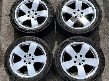 Selling: MERCEDES BENZ E CLASS 17 CHROME RIMS WHEELS TIRES 2003-2009 W211