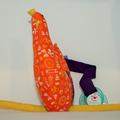 Vente au détail: Ma p'tite poule - orange baby - création originale