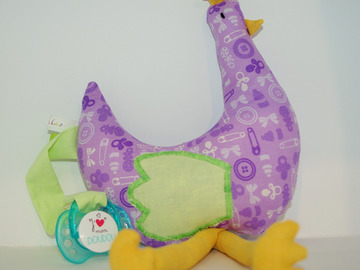 Sale retail: Ma p'tite poule - purple baby - création originale