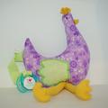 Vente au détail: Ma p'tite poule - purple baby - création originale