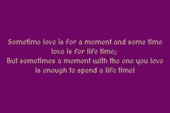 Selling: LOVE FOR A LIFETIME OR MOMENT?