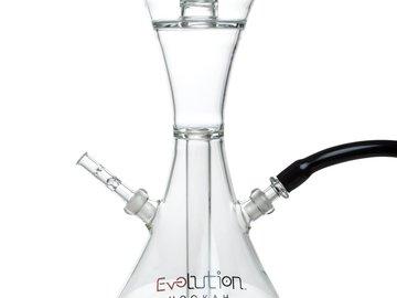 """Post Now:  15"""" Bella Hourglass Design Glass Hookah"""