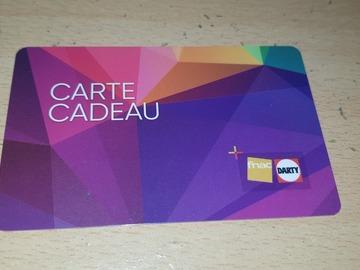 Vente: Carte cadeau Fnac-Darty (15€)