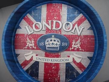 Vente: PLATEAU ROND LONDON - 2.5€