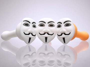 Post Products: Anonymous Themed Silicone Hand Pipes