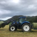 Hourly Equipment Rental: New Holland T6080 with loader and front linkage