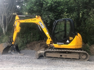 Hourly Equipment Rental: JCB 8085zts  ( 8 ton Excavator)
