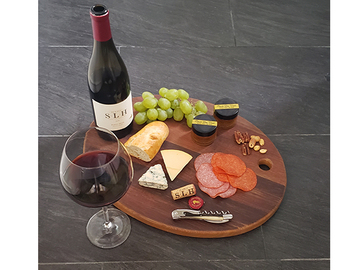 : Charcuterie Board [made from an oak wine barrel]