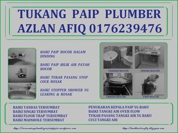 Services: tukang paip plumber  azlan afiq 0176239476 wangsa maju