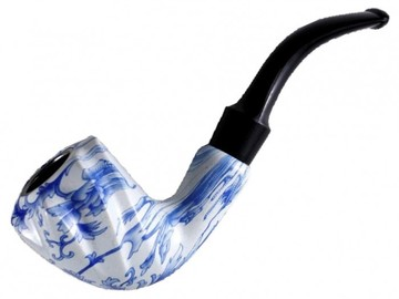 "Post Products:  5.5"" Botanical Motif Designed Smooth Wooden pipe With Large Bowl"