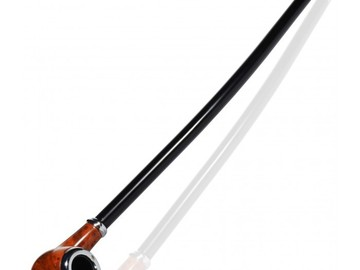 "Post Products:  16"" Grand Churchwarden Gandalf Pipe - Light Maple Wood"