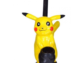 "Post Products:  6"" Character wooden pipes - Pikachu"