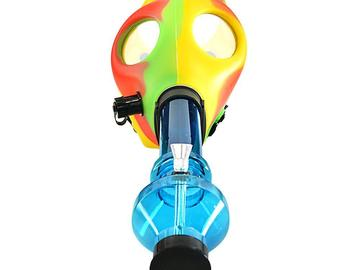 Post Products:  Multi Color Gas Mask w/ Water Pipe