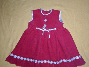 Kids: Red white Holiday Winter Christmas Dress