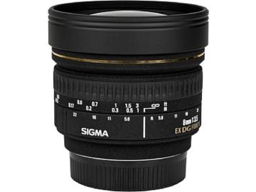 Vermieten: SIGMA EF 8mm, f/3.5 EX DG Zirkular Fisheye