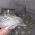 Ilmoitus: 36 kpl koristeltuja lasipurkkeja