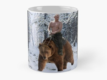 Buy Now: Putin on a bear Mug