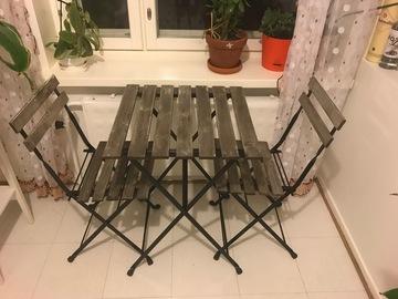Myydään: Balcony table and 2 chairs