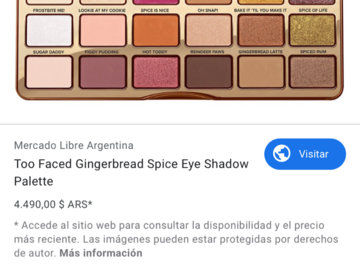Buscando: Busco Gingerbread Spice de Too Faced