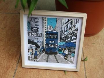 : Hong Kong Tram (Blue) - Art Print